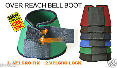 Gee Tac Horse Competition Double Velcro Neoprene Overreach Bell Boot All Sizes