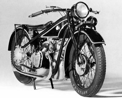 1928 BMW R32 Motorcycle Factory Photo c8060-HT2D21