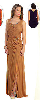 5 COLOR Mother Of  Bride/Groom Dress Party Prom Evening Pageant Cocktail M- 5XL