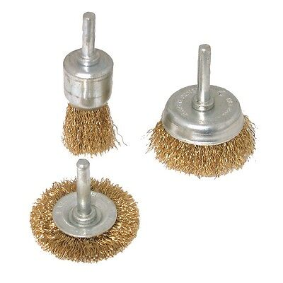 3pce ROTARY WIRE END BRUSH & CUP BRUSH SET