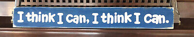 I THINK I CAN Railroad Train Wall Decor BOYS Room Sign Wood UPik Color Plaque HP