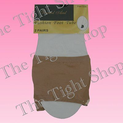 4 Pairs Open Toe Foot Tubes - Ideal for Wearing with Open Toe Shoes - Natural