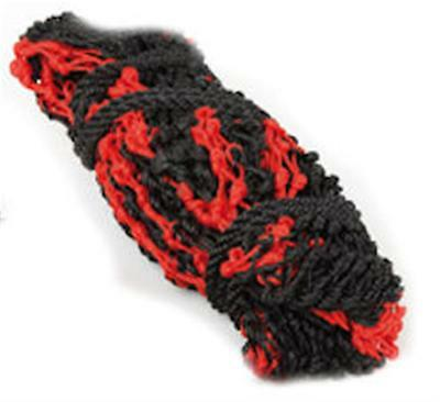 Shires Deluxe Very Fine Mesh Haynet / Haylage Net - Large, Red/Black