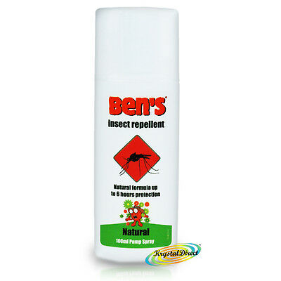 Ben's Bens Natural Mosquito Insect Repellent Biting Protection Spray 100ml