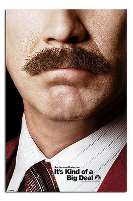 Anchorman 2 Teaser Large 24 x 36 Inch Wall Poster New - Laminated Available