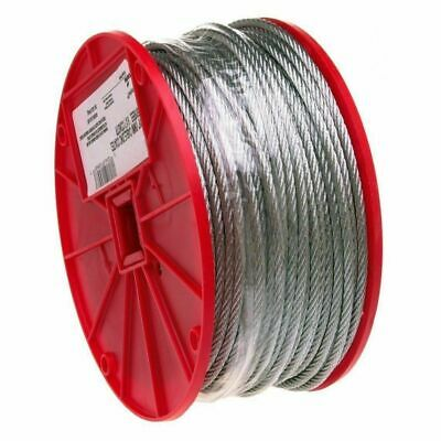 "1/4"" x 250FT Roll Galvanized Aircraft Steel Rope Cable 7000827"