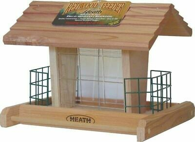 Heath 655 Suet / Seed Bird Feeder Classic Redwood