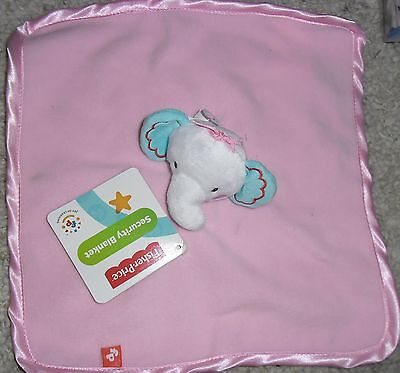FISHER PRICE PRECIOUS PLANET PINK ELEPHANT BABY BLANKET SECURITY BLANKIE LOVEY