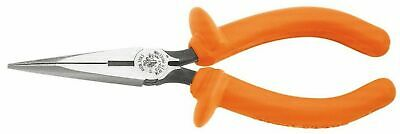 "Klein Tools D203-7-INS Insulated Standard Long Nose Pliers - 7"" Side Cutting"
