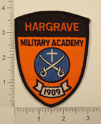 HARGRAVE MILITARY ACADEMY 1909 Embroidered PATCH