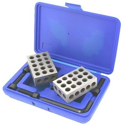 Ultra Precision Mill 1-2-3 123 Block+Screws Clamping Set Kit Case Machinist Tool