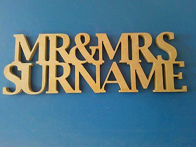 Mr & Mrs Mdf Wooden Letters Personalised/Customised Freestanding Wedding Gift