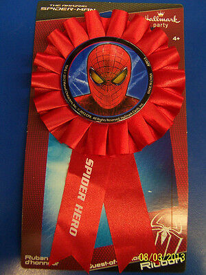 The Amazing Spider-Man Movie Superhero Birthday Party Favor Guest Honor Ribbon
