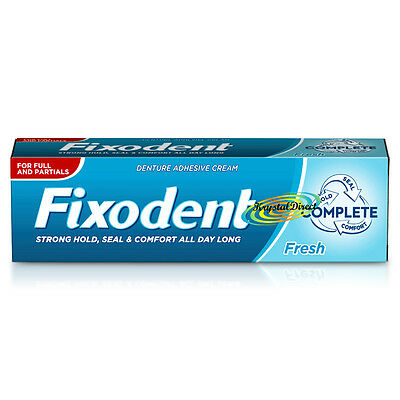 Fixodent Fresh Complete Denture Adhesive Strong Hold & Food Seal Cream 47g