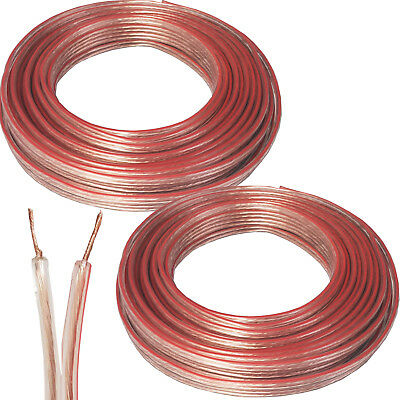 30M Speaker Cable - 0.6Mm 19 Awg - Car Hifi Audio Wire Reel Cca Loud