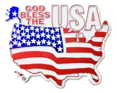 God Bless the USA Flag Fridge Magnet