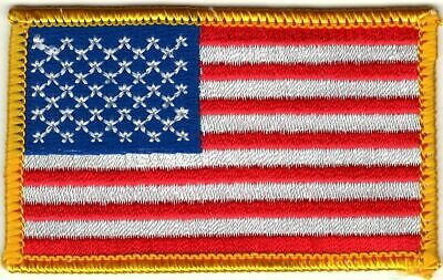 "2"" x 3 1/4"" United States American US Flag Embroidered Iron or Sew On Patch"