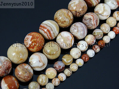 Natural Mexican Crazy Lace Agate Gemstone Round Beads 15.5'' 4mm 6mm 8mm 10mm