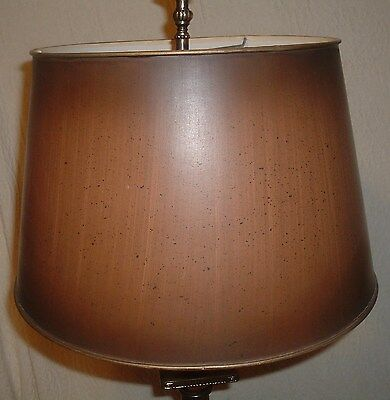 "Vintage Lamp Shade w Wood Grain Look 16""D 10""T Bouillotte 1 of 2"