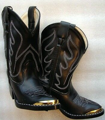 Black Old West Western COWGIRL Riding Show Boots Boot Youth Kid Children New
