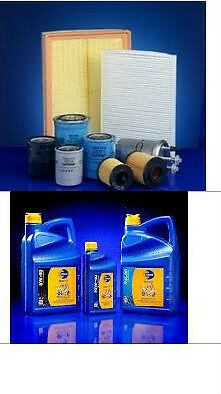 Trafic 2.0 DCI 06>> Air, Oil & Fuel filters + 8 Litres 5w40 Fully Synthetic Oil
