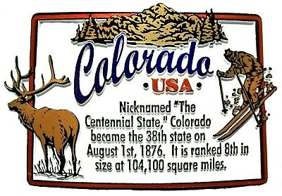Colorado The Centennial State Outline Montage Fridge Magnet