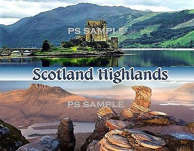 Scotland - HIGHLANDS - Travel Souvenir Fridge Magnet