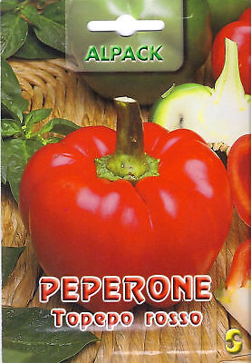 Vegetable Pepper Sweet Topepo Rosso 1.2Gm ~ Approx 180 Seeds