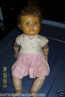 VINTAGE 1950's- 60's AMERICAN CHARACTER TINY TEARS DOLL IN ORIGINAL CLOTHES