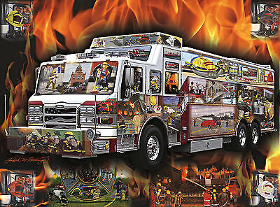 FIRE ART- 30 YEARS- multiple firefighter prints by artist Joseph M. Getsinger