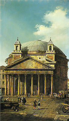 Canaletto : Rome ( Roma ) , The Pantheon :: 24 Inch Canvas Fine Art Print
