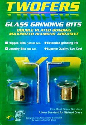 Aanraku Twofers JEWELRY Grinder Bits 220 Grit Grind Groove into Glass Wrap Wire