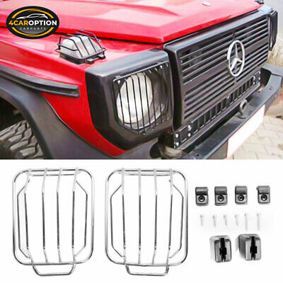 Fits 99-07 Mercedes Benz G500 G550 Chrome Front Light Guard