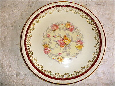 Taylor Smith Taylor Chester West Virginia USA pink yellow rose salad plate