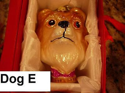 """LH0001-E 4"""" Collie Dog Glass Christmas Ornament in Red Gift Box Puppy Pet Friend"""