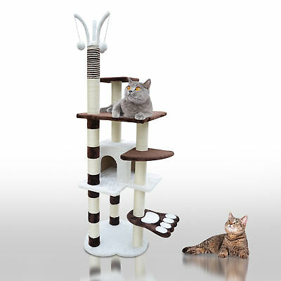 "68"" Cat Scratching Post Tree Kitten Condo Play Cente House Pet Furniture w/ Toys"
