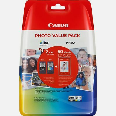 Canon PG540XL Black Ink & Canon CL541XL ChromaLife 100 for Canon Pixma MG4150
