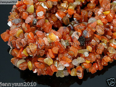 Natural Carnelian Gemstone 5-8mm Chip Nugget Beads 35'' Bracelet Necklace Design