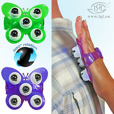 Massage-Handschuh mit Magnetkugeln Wellness Massage Magnet - Schmetterling