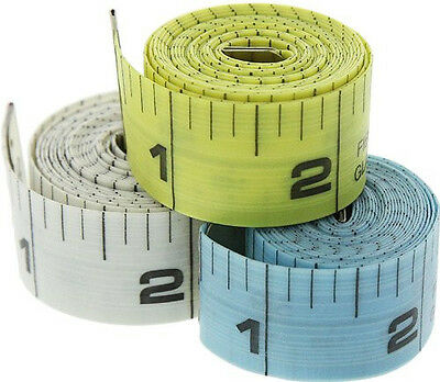 Double Sided 5ft x 20mm Tailor Tape Measure Soft PVC Material SAE & MATRIC #MT9R