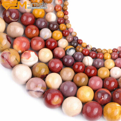 "Natural Stone Genuine Mookaite Gemstone Beads For Jewelry Making 15"" Multicolor"