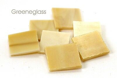 Amber Honey & Cream Mosaic Glass Tile * Cut to Order Shapes * Medium Package