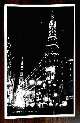 SINCERE Co. DEPARTMENT STORE AT NIGHT Nanjing Rd SHANGHAI CHINA Photo Postcard