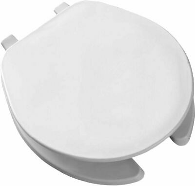 Bemis Mayfair 75 000 Round White Commercial Open Front Plastic Toilet Seat