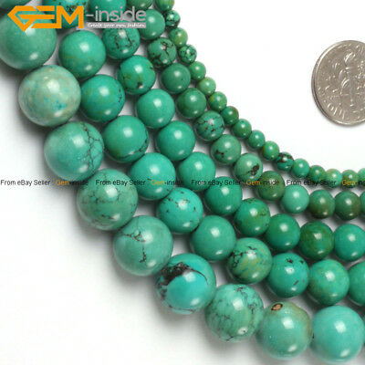 "Old Turquoise Stone Beads For Jewelry Making 15"" Wholesale Gemstone Loose Beads"