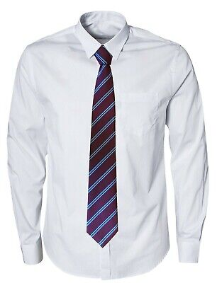 Football Club Tie Aston Villa FC Colours  Claret + Sky Blue Stripes