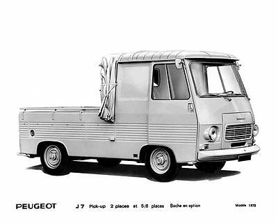 1970 Peugeot J7 Pickup Truck Factory Photo u5811-MAMMC5