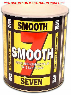 Car Body Filler 3.5L Upol Smooth 7 Easy Sand With Free Postage
