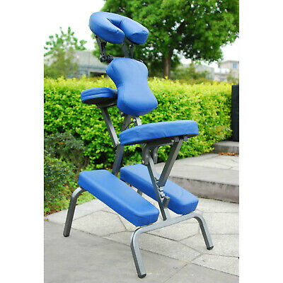 Portable Massage Chair Spa Beauty Relaxing Chair PU Leather w/ Carry Bag