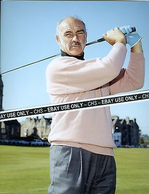 """SEAN CONNERY COLOR 8x10 PHOTO PLAYING GOLF """"GOLDFINGER"""" """"NEVER SAY NEVER AGAIN"""""""